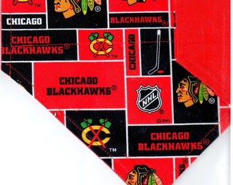 Chicago Blackhawks Mascot Bandana | Dog Bandana | Over the Collar Dog Bandanas | Custom Dog Bandana