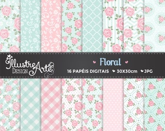 Floral / Shabby Chic Digital Paper