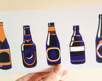 Bottle Art Print - Beer Lover Gift