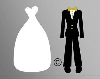 wedding svg, Bride svg, Wedding dress svg, Dress svg, Bride and Groom svg, Wedding party svg, Cricut, Cameo, Clipart, Svg, DXF, Png, Eps