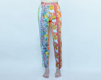 Vintage MOSCHINO jeans colorfull flower print pants