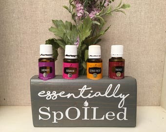 Essential Oils Display and Storage Wooden Block - Essentially Spoiled