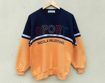 Vintage Nicola Valentino Sports multicolor embroidery sweatshirt