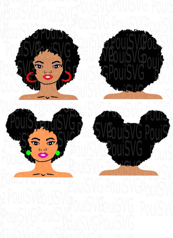 Afro Svgafro Svg Files Natural Hair Svgsilhouette Cutting