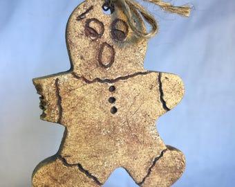 Gingerbread Man Ornament, Christmas ornament, baker gift, Christmas gift