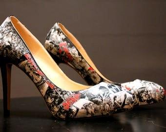 Walking Dead custom shoes