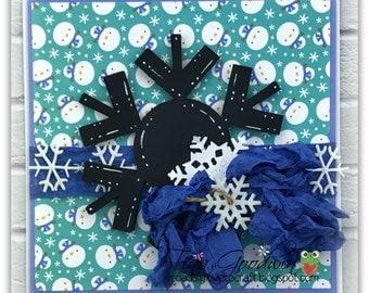Snowflake Silhouette Card