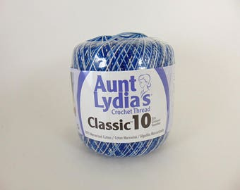 Shaded Blues - Aunt Lydia's Crochet Cotton Classic Size 10