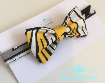 Pop art retro Bow Tie, Fun Bow Tie, Toddler Bow Tie, Cake Smash Bow Tie, wedding Bow Tie, Christening Bow Tie, Birthday Bow Tie