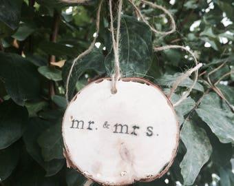 Customizable Birchwood Ornaments