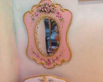 Mirror 1:12. Mirror. Hand Painted Furniture