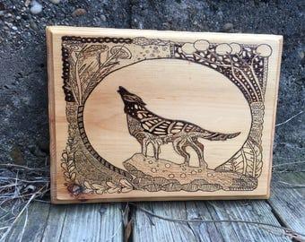Wolf Wood Burning