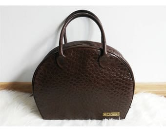 Moschino by Redwall vintage brown leather bag