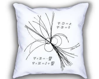 Maxwell and Rays of Light art pillow