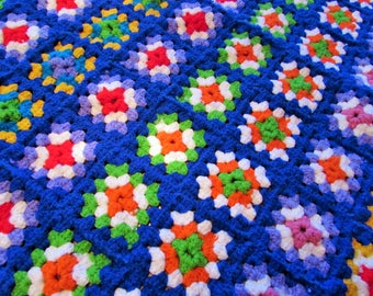 vintage crochet throw blanket