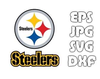 Pittsburgh Steelers logo SVG - Vector Design in Svg Eps Dxf Jpeg Format INSTANT DOWNLOAD