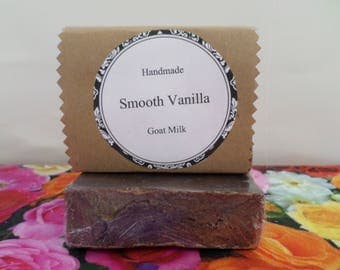 Smooth Vanilla Goat Milk Soap, Vanilla Goat Milk Soap, Goat Milk Soap, Goat Milk Soap Bar, Handmade Soap, Natural Soap, Vegan Soap