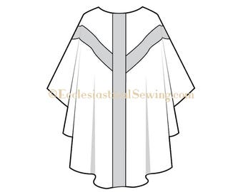 Gothic Priest Clergy Chasuble Church Vestment Pattern