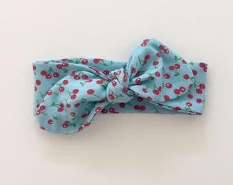 Baby Cotton Headband - Self Tie Top Knot Head Wrap