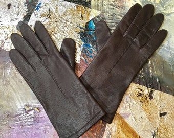 Vintage Fownes Brown Leather Gloves