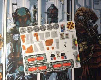 Star Wars Vintage Custom Repro Die Cut Stickers Decals Labels - Star wars custom die cut stickers