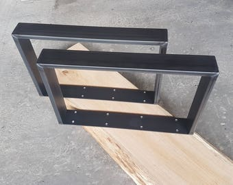 Table runners coffee table steel 60-20 industrial design 40-80 cm