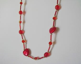 Red of Hearts Necklace