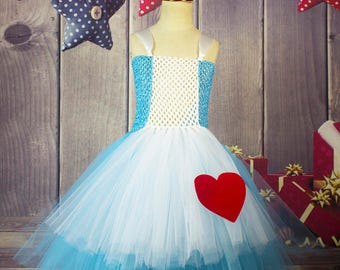 Alice in Wonderland baby girl Kids Tutu Dress, Birthday Dress, Photo Shoots Dress