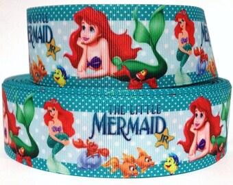 "Grosgrain Ribbon 1.5""  Little Mermaid Princess Ariel MD1 USA SELLER"
