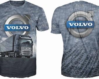 New ultramodern 3D  High Quality  Mens  Long Sleeve Gray T-shirt Truck Volvo