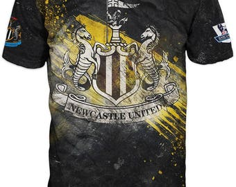 New ultramodern 3D  High Quality  Print Fans Short Sleeve t-shirt Newcastle