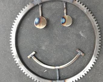 Smiley Face metal art weld art