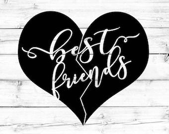 Best Friends SVG, Best Friends Heart Svg, BFF Svg, Svg Files, Cricut Svg, Shirt Svg, Silhouette Svg