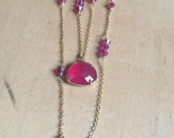 Necklace Pink/Gold