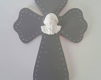 """cross cut """"Mathilde"""" in the medium 3 mm and hand painted."""