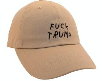 NEW Fuck Trump Baseball Hat Dad Hat Adjustable back strap Unisex Dad Hats Embroidered Dad Hat Dad Cap