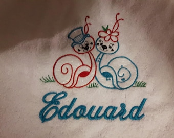 hand towel with personalized embroidery