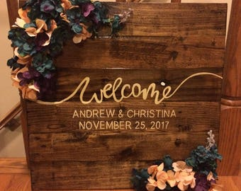 Welcome Rustic Wedding Sign