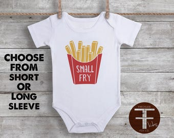 Small Fry Onesie, Funny Baby Onesies, French Fry Onesie, Baby Shower Gift, Unisex Baby Clothes, Funny Baby Bodysuits, Baby Boy Gift, Hipster