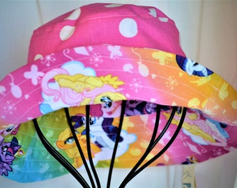 Polka Dots and Ponies, Toddler size reversible sun hat