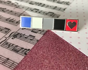 "1.75"" Friday I'm In Love - The Cure lapel pin - Silver plated, Valentine's Day"
