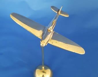 Brass Airplane Paperweight