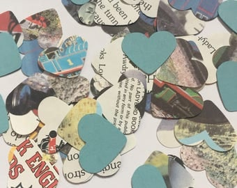Thomas the Tank Engine Book Page Confetti Hearts Trains Birhday Wedding Baby Shower Party Decorations