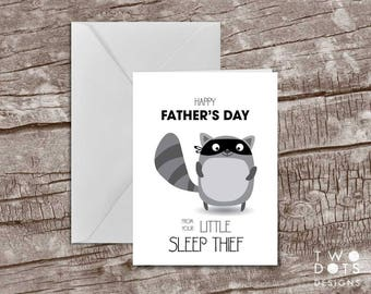 5x7 Printable Father's Day Card - Sleep Thief, Happy Father's Day, Father Card, Dad Card, Card for Dad, Card from Baby