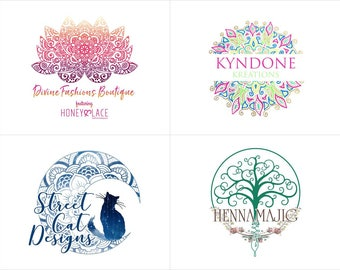 Tribal Logo, Boho Logo Design, Designer Logo, Custom Logo Design, 3 Concepts, Logo for your Idea, Business Logo, Royal Logo, Boutique Logo