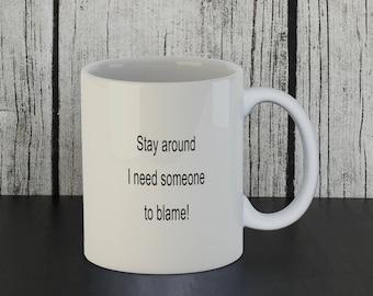 Fun Mug, Funny Mug, Funny Office Mug, Funny Office Gift, Coworker Gift, Coworker Mug, Leaving Gift, Leaving Job Gift, Work Friend Mug