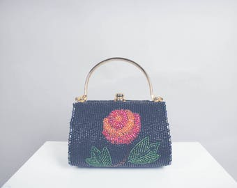 Beaded Flower Mini Bag
