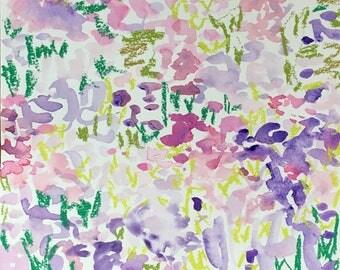 Purple garden abstract paper