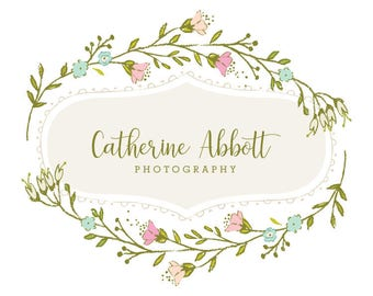 Premade Logo Small Business Branding Photography Logo Flower Logo Garden Children's Logo