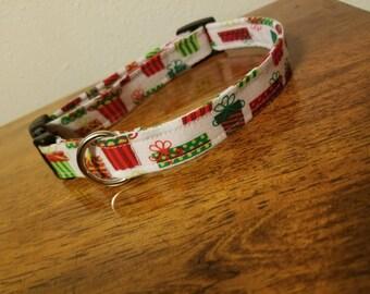 Handmade Christmas dog collar
